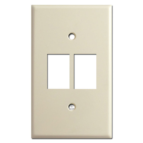 Bracket Mount Switch Plates for Two Low-Voltage GE Switches - Ivory
