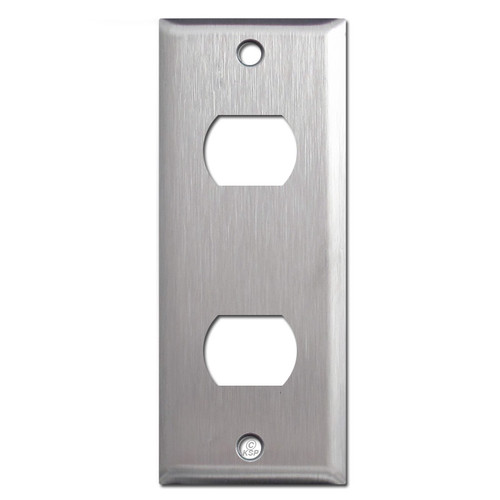 "1.75"" Narrow 2 Despard Switch Wall Plates - 302 Spec Stainless Steel"