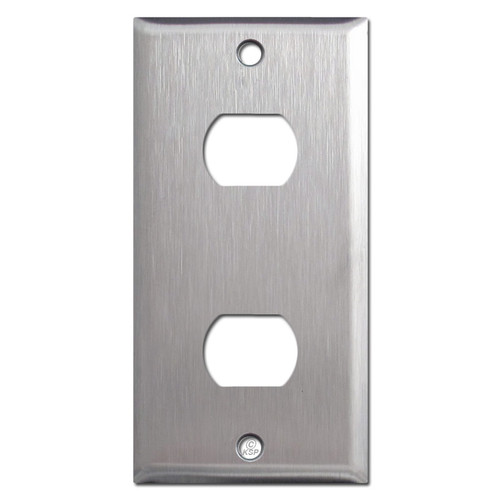 "2.25"" Narrow 2 Despard Stacked Switchplate - 302 Grade Stainless Steel"