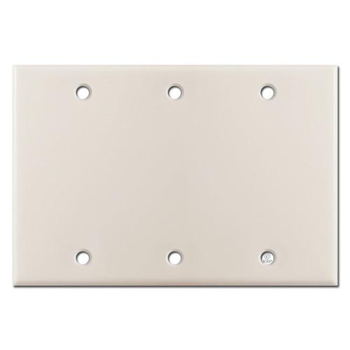 Triple Gang Blank Wall Plate Covers - Light Almond