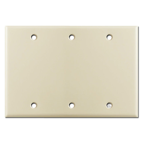 3 Blank Wall Switch Plates - Ivory