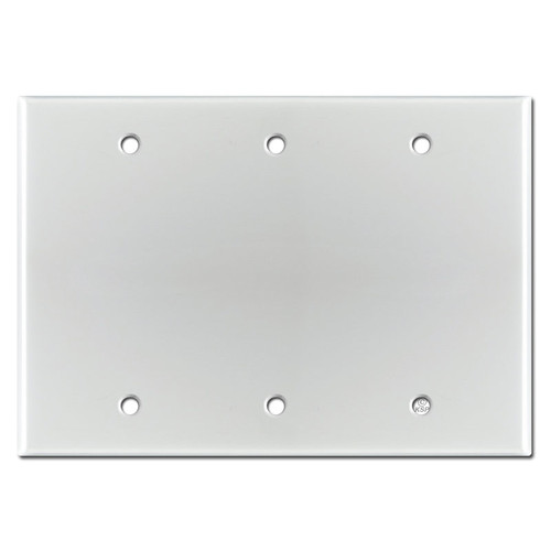Three Blank Switch Wall Plate - Brushed Aluminum