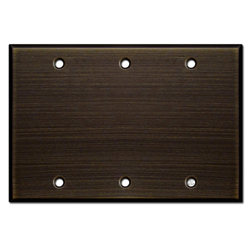 3 Gang Blank Electrical Wall Plate - Oil Rubbed Bronze
