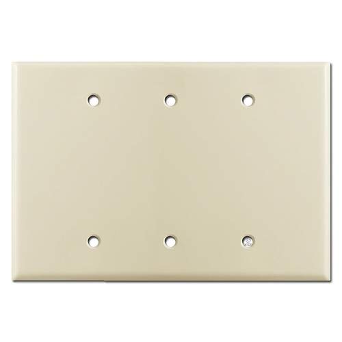 Oversized Triple Blank Wall Plate Cover - Ivory