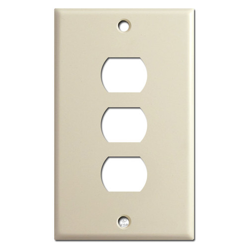 3 Despard Stacked Switch Plate Covers - Ivory