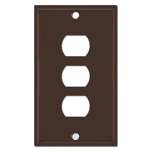 Three Hole Despard Switch Plate Covers - Brown