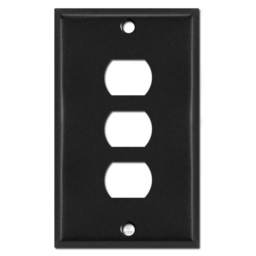 3 Hole Despard Switch Plate Covers - Black