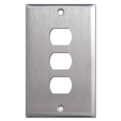 Triple Switch Despard Wall Plate Covers - Satin Stainless Steel