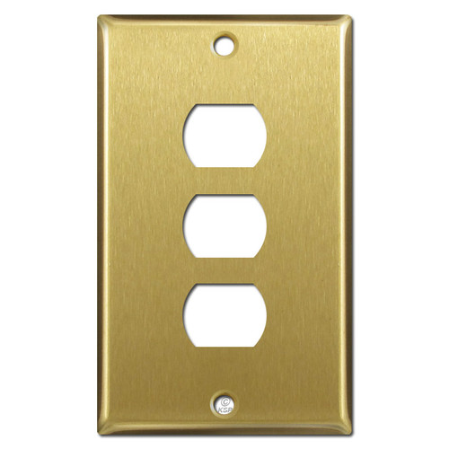 Triple Stacked Switch Despard Light Plate Cover - Satin Brass