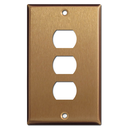 Three Hole Despard Switch Plates - Satin Bronze