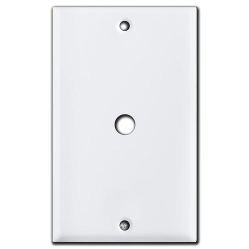 "3/8"" Cable TV Wall Switch Plates - White"