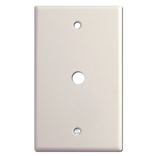 "Cable Wall Plate with 3/8"" Opening - Light Almond"