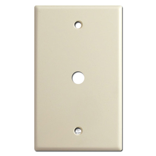 "Cable Outlet Switch Plates for 3/8"" Connector - Ivory"