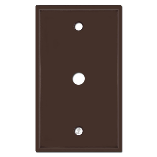 """Cable Switch Plates for .375"""" Coax Connector - Brown"""