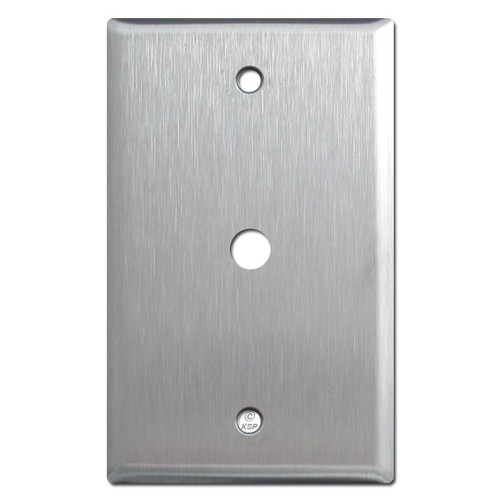 """Spec Grade Stainless Steel Cable Wall Plate  3/8"""" Opening"""