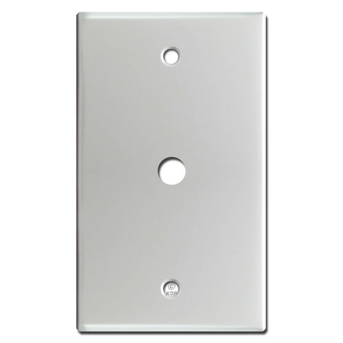 "Cable Jack Wall Plate Cover with .375"" Opening - Brushed Aluminum"