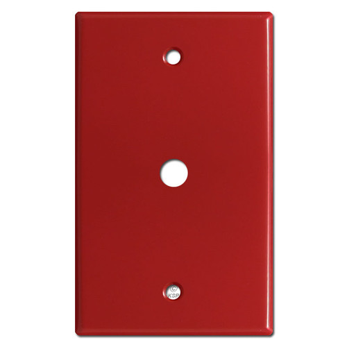 "Cable Jack Wall Plates with 3/8"" Opening - Red"