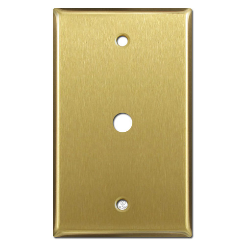 One Gang Blank Light Switch Wall Plates - Satin Brass