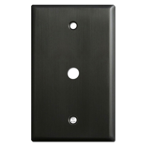 ".375"" Opening Cable TV or Internet Jack Wall Plate - Dark Bronze"