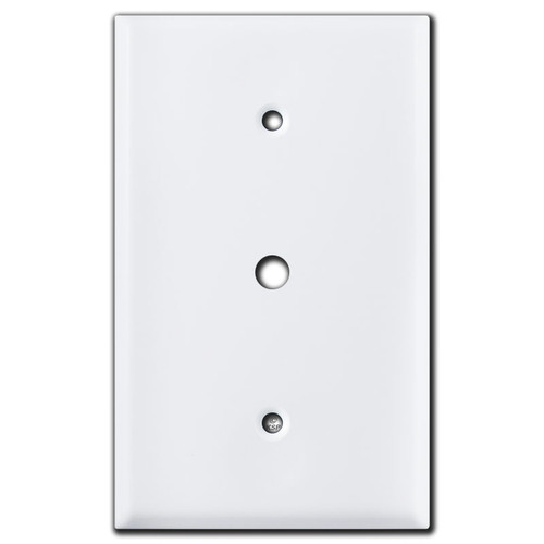 "Oversized 3/8"" Opening Cable Jack Wall Plates - White"