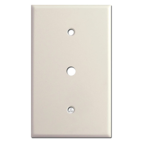"Oversized 1 Gang 3/8"" Opening Cable Outlet Cover - Light Almond"