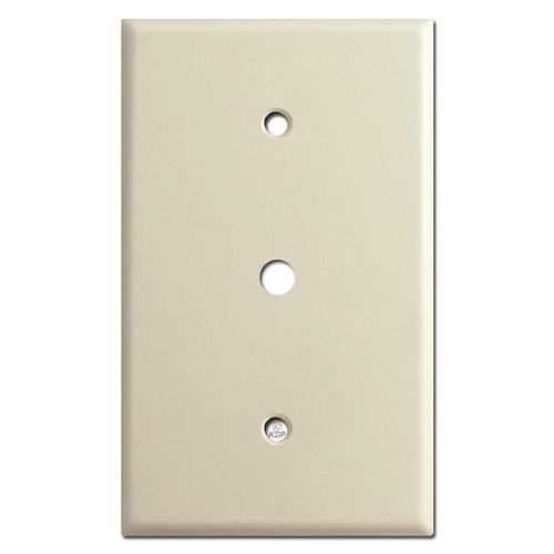 "Oversized Single .375"" Hole Cable Jack Wall Plate - Ivory"