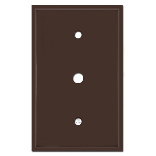 """Oversized Cable TV Jack Wall Plates with .375"""" Opening - Brown"""