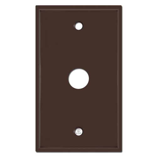 """5/8"""" Phone Cable Switch Plate Cover - Brown"""