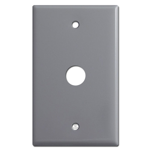 "Single 5/8"" Phone Cable Wall Plates with 5/8"" Hole - Gray"