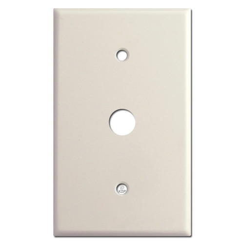 """Oversized 5/8"""" Phone Cable Wall Plate Cover - Light Almond"""