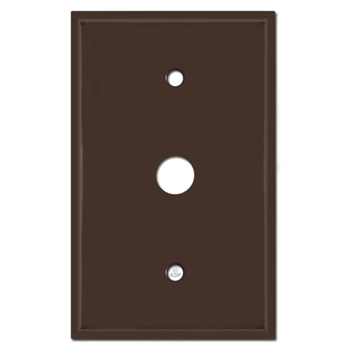 Jumbo Phone Cable Wall Plate Covers with .625'' Opening - Brown