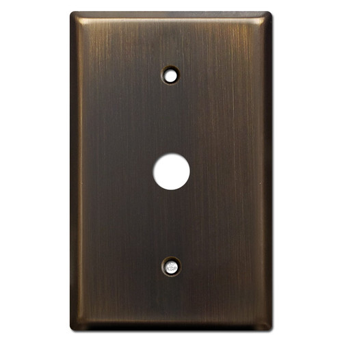 "Oversized .625"" Phone Cable Wall Plate - Oil Rubbed Bronze"