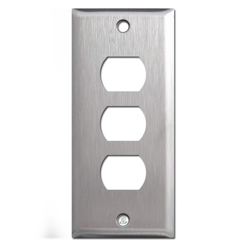 "2"" Thin 3 Stacked Despard Switch Plates - Spec Grade Stainless Steel"