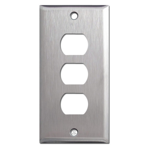 "2.25"" Narrow 3 Tandem Despard Switch Plate - Satin Stainless Steel"