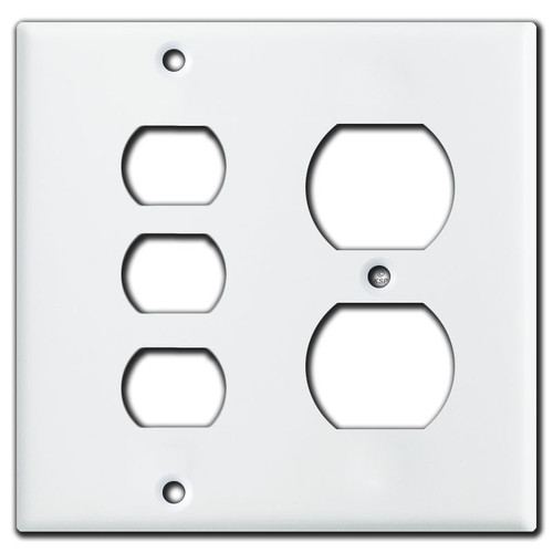 1 Duplex Outlet 3 Despard Wall Switch Plate Covers - White