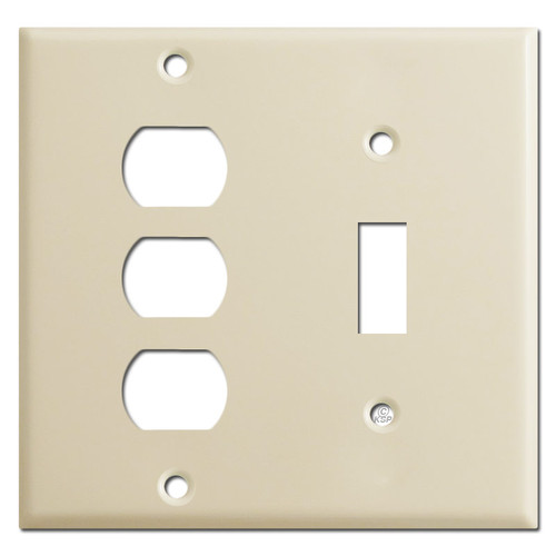 2 Gang 3 Despard 1 Toggle Light Switch Plate Covers - Ivory
