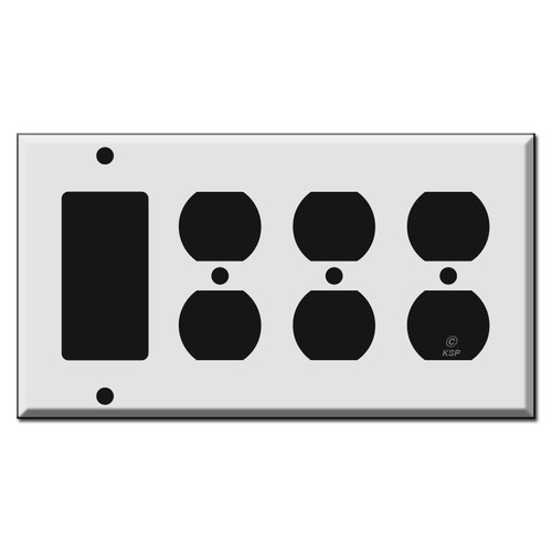 Triple Outlet - Single Rocker Wall Plates