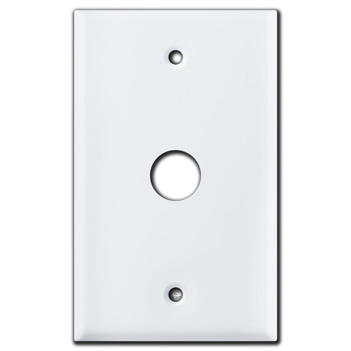 "Single .69"" Round Opening Device Wall Switch Plates - White"