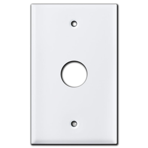 "7/8"" Opening Wall Switch Plates for Round Devices - White"