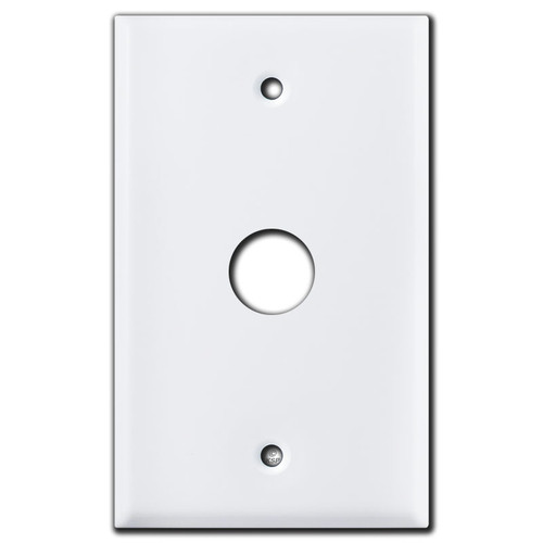 """Single .75"""" Round Opening Control Wall Switch Plates - White"""