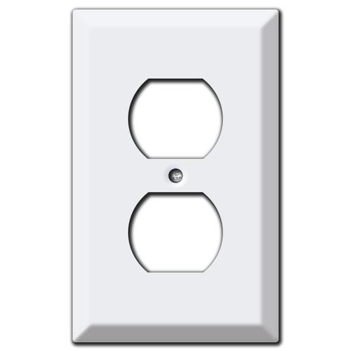 Deep Switch Plate for 2 Horizontal Toggle Switches - White