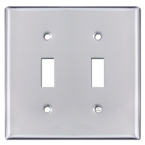 2 Toggle Light Switch Cover - Polished Chrome