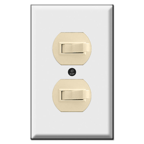 Duplex Stacked Toggle Switch Wall Plates (switches not included)
