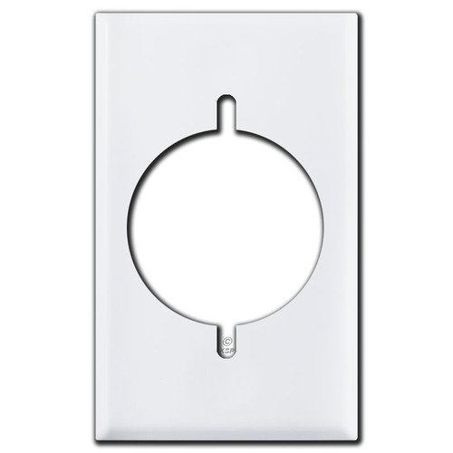 "1 Gang 2.125"" Dryer or Range Power Outlet Cover Plates - White"
