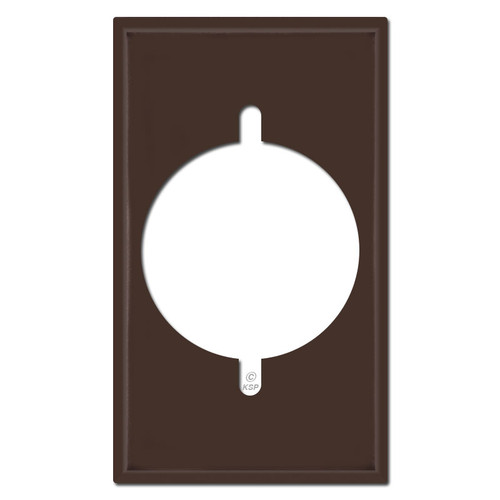 Range or Dryer Power Outlet Cover Switch Plates - Brown