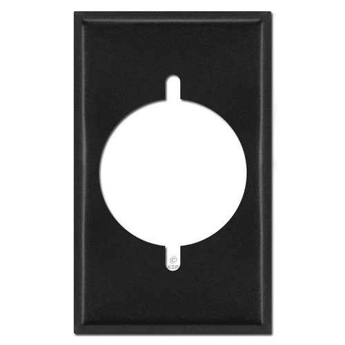 Single Gang Dryer or Range Electrical Power Outlet Covers - Black