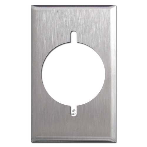One Gang Dryer or Range Outlet Covers - Satin Stainless Steel