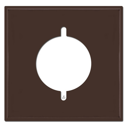 """Double Gang 2.125"""" Range or Dryer Outlet Covers - Brown"""