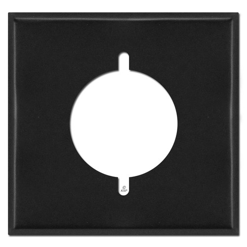 """2 Gang 2.125"""" Range or Dryer Outlet Switch Plate Cover - Black"""