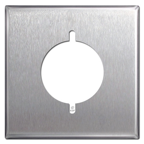 2 Gang Range or Dryer Outlet Cover Wall Plate - Satin Stainless Steel